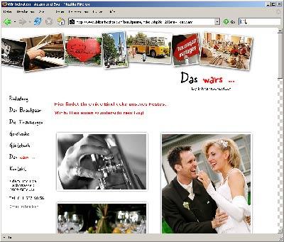 die eigene hochzeits homepage - Hochzeitshomepage Beispiele